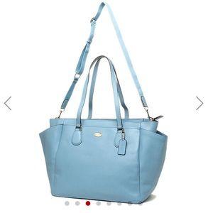 NWT Coach Diaper Bag in Baby Blue